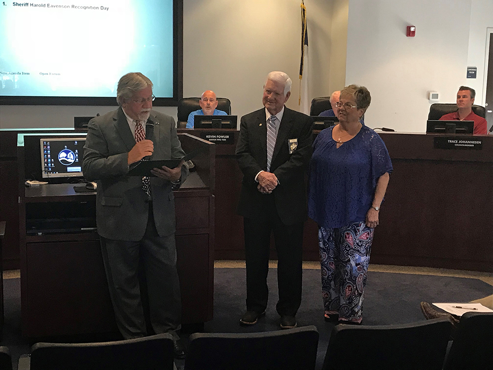 Rockwall County sheriff honored at city council meeting