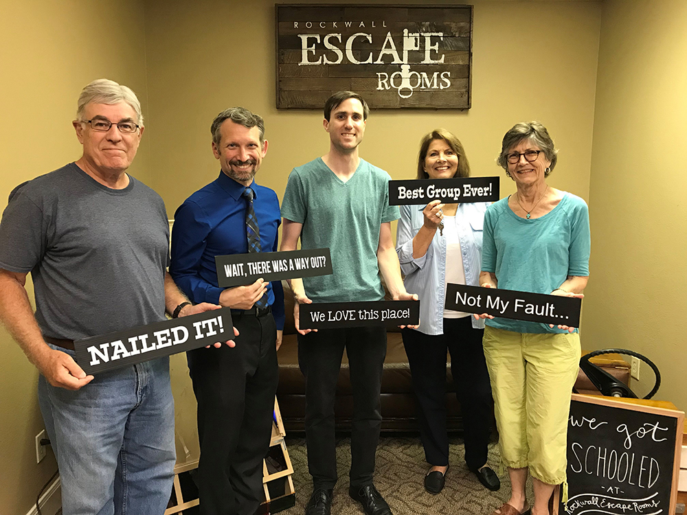 Solving a mystery of our town's history at the Rockwall Escape Rooms