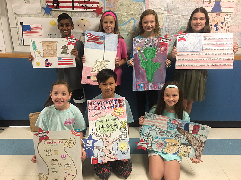 Fifth Grade Poster Contest Recognizes Constitution Week