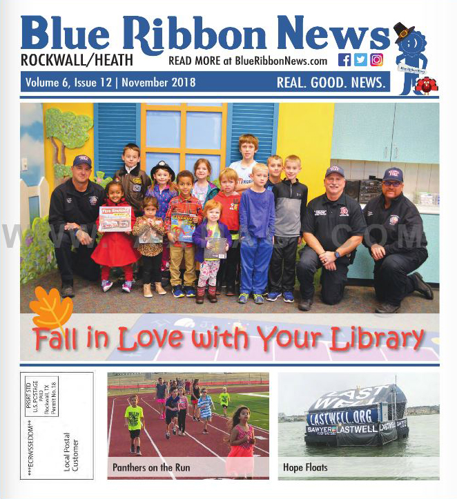 Blue Ribbon News November 2018 Print Edition Hits Mailboxes Throughout Rockwall, Heath