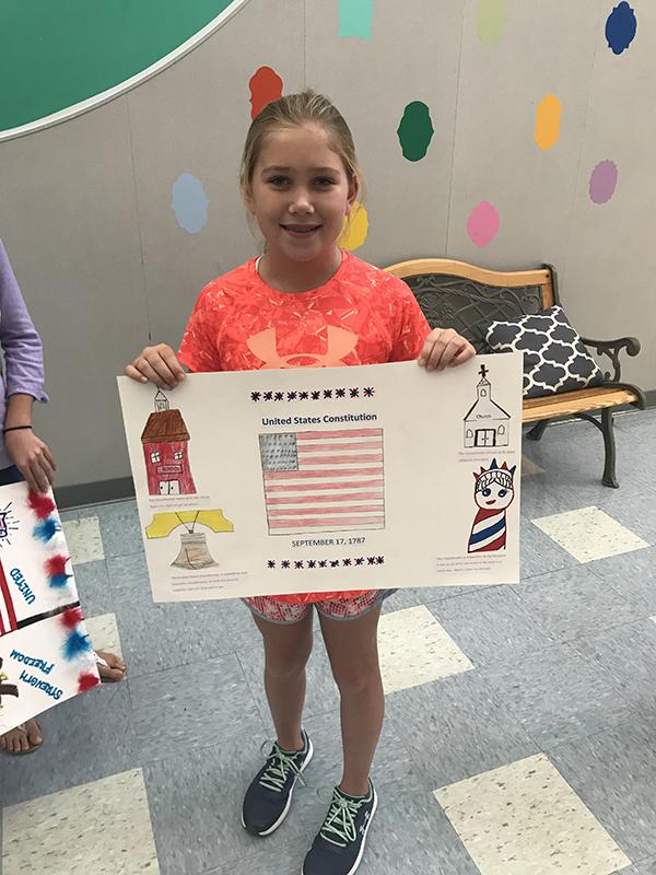 Constitution Week Poster Contest Winner Jordan Bankston - Pullen Elementary
