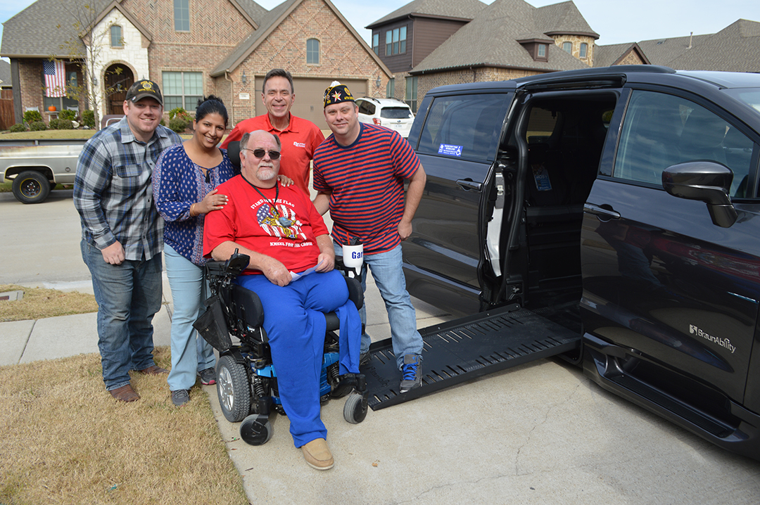 Local Veteran Receives New Handicap-Accessible Vehicle