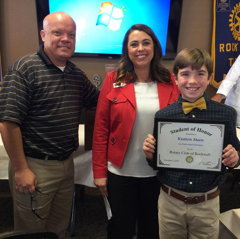Rotary Student of Honor Keaton Steen