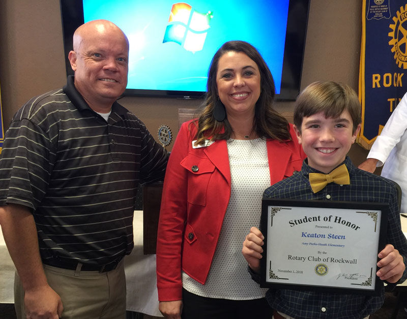 Student of Honor Recognized by Rockwall Noon Rotary
