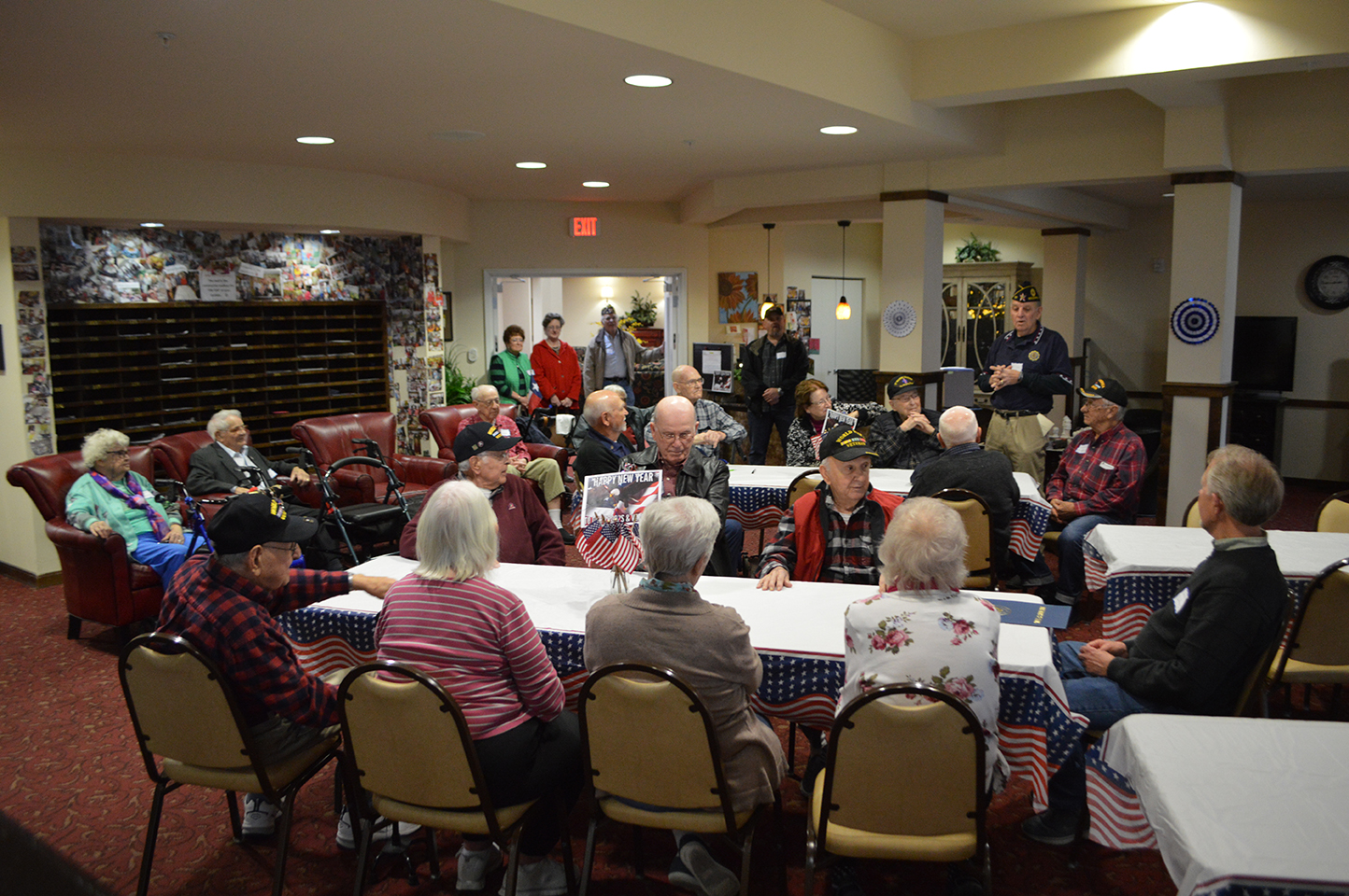 World War II Veterans Celebrate New Year's 2019 at Liberty Heights