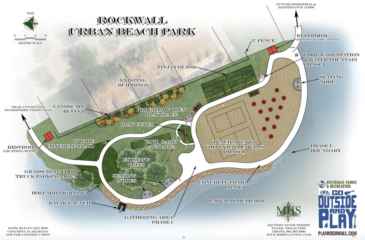 Rockwall City Council Discusses Phase 1 of Harbor Urban Beach Park
