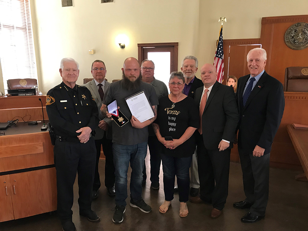 Rockwall Citizen Recognized with Life Saving Award and Medal of Valor