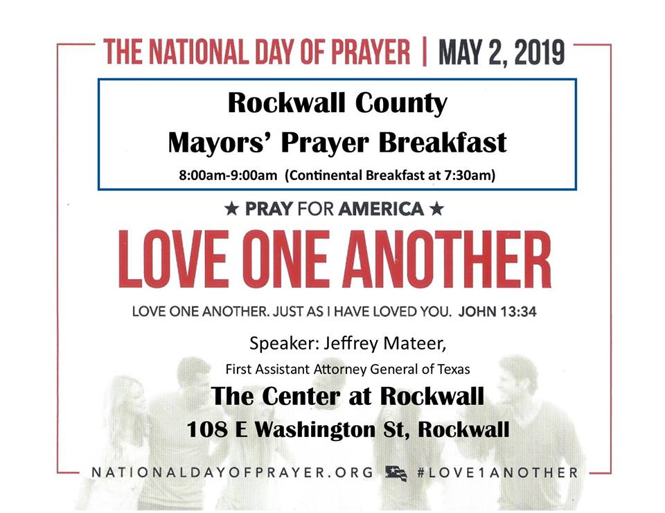 Rockwall County Mayors' Prayer Breakfast May 2