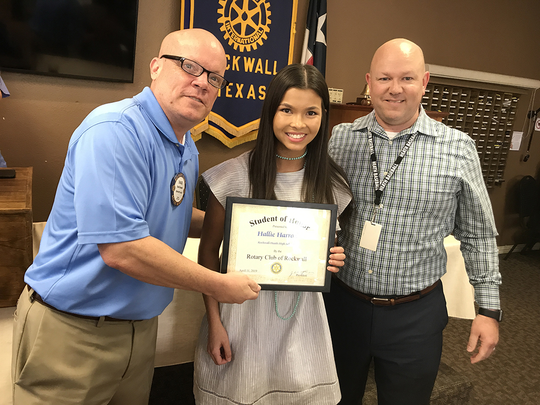 Rockwall Noon Rotary Recognizes Student of Honor from Rockwall-Heath High School