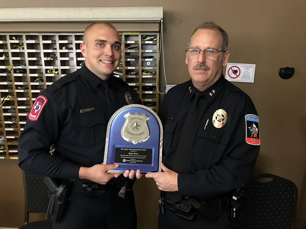 Rockwall Noon Rotary Recognizes Area First Responders