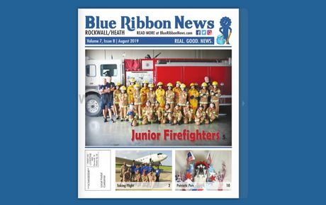 Blue Ribbon News August 2019 Print Edition Hits Mailboxes Throughout Rockwall, Heath