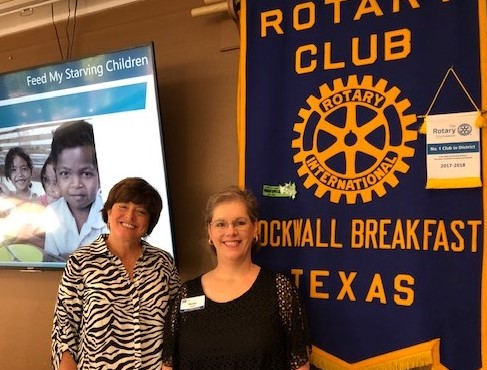 Rockwall Breakfast Rotary Welcomes Betty Goff of 'Feed My Starving Children'