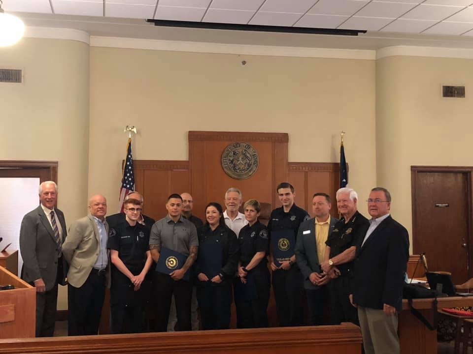 Rockwall County Sheriff's Office Personnel Recognized for Lifesaving Efforts in Suicide Attempt