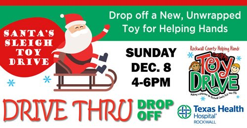 Drive-thru toy drive, family festivities at Texas Health Hospital Rockwall Dec 8