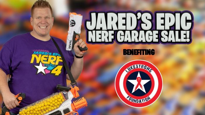 Jared's Epic Nerf Garage Sale at Wells Cattle Co Saturday to benefit charity