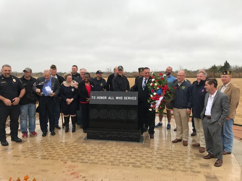 McLendon-Chisholm Unveils Engraved Bricks at Veterans Memorial