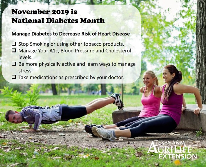 November's National Diabetes Month focuses on Heart Disease