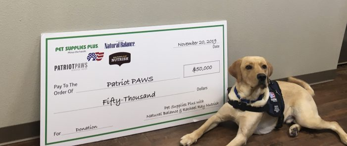 Pet Supplies Plus donates $50,000 to Rockwall's Patriot Paws