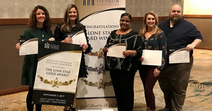 Rockwall High Counseling Department wins GOLD