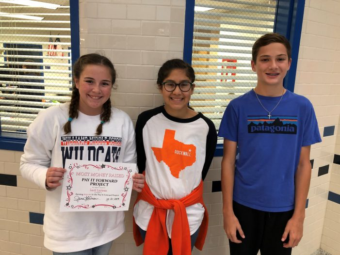 Williams Middle School PALS pay it forward