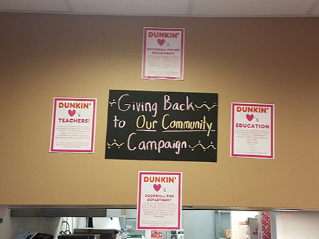 Dunkin Donuts in Rockwall Gives Back to Those Who Serve the Community