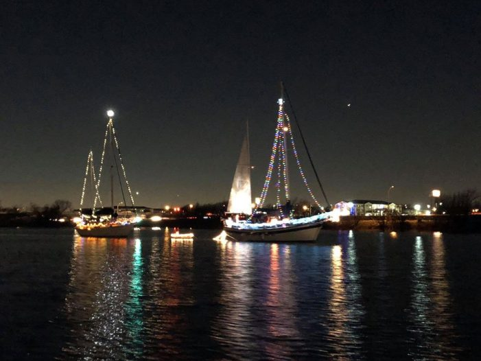 Christmas lighted boat parade on Lake Ray Hubbard Dec. 14