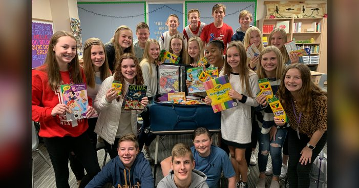 Cain Middle School PALS provide school supplies for students in Zambia