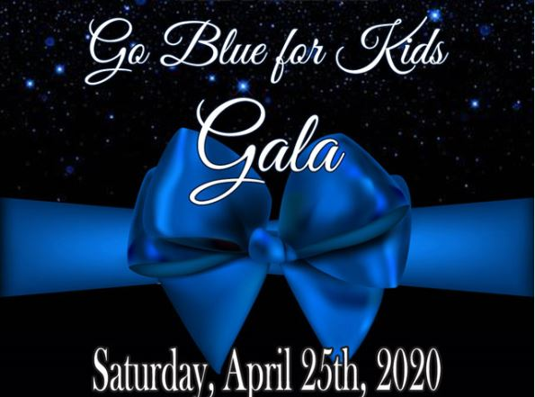 Tickets, sponsorships available for 'Go Blue for Kids' Gala April 25