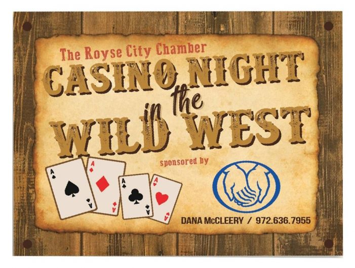 Royse City Chamber to host Wild West Casino Night