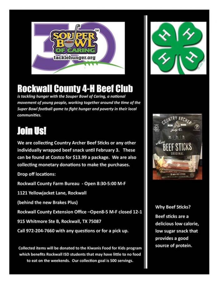 Support Rockwall County 4-H with Souper Bowl of Caring