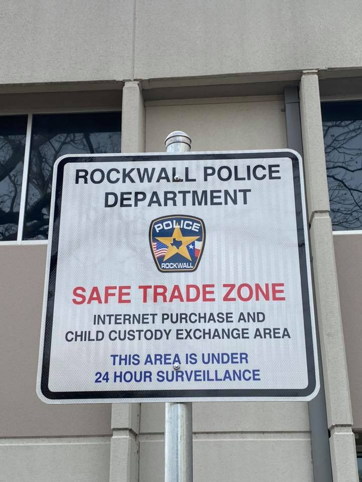 Rockwall Police Communications Center serves as 'Safe Trade Zone' for internet puchases, child custody exchange
