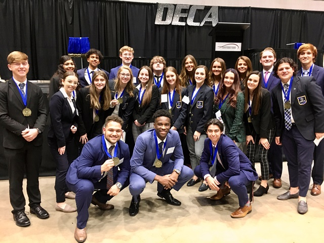 Dr. Gene Burton College & Career Academy DECA students qualify for State