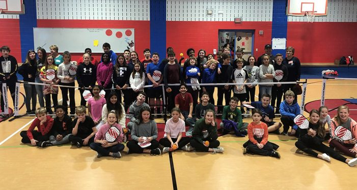 Pickle Ball fun at Grace Hartman Elementary
