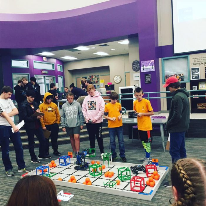 Williams Middle School Robotics compete in first VEX competition of the year