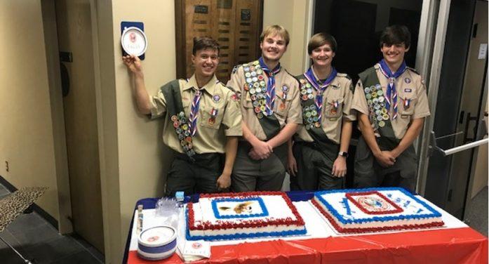 Rockwall Troop 690 celebrates four Eagle Scouts