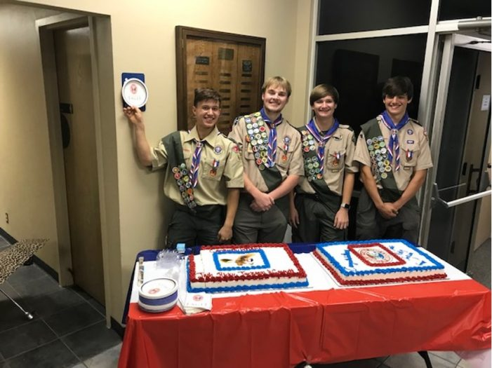 Rockwall Troop 690 celebrates four Eagle Scouts