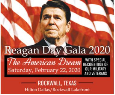 Tickets available for Rockwall County GOP Reagan Day Gala 2020