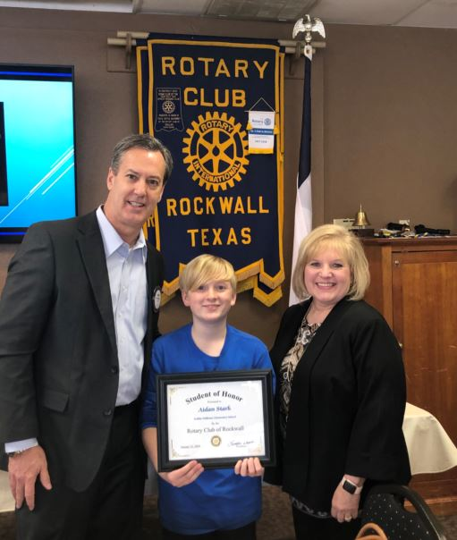 Rockwall Rotary names Student of Honor from Nebbie Williams Elementary