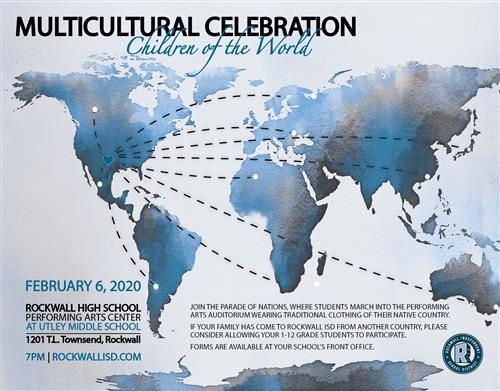 Rockwall ISD Multicultural Celebration Flyer