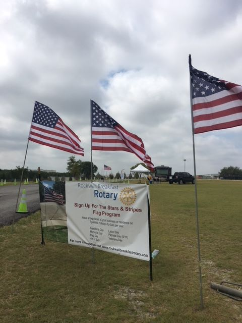 Rockwall Breakfast Rotary's Stars & Stripes program offers flags for residences, businesses