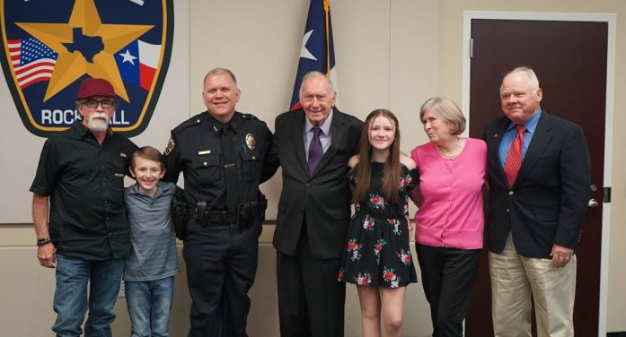 Max Geron sworn in today as Rockwall Chief of Police