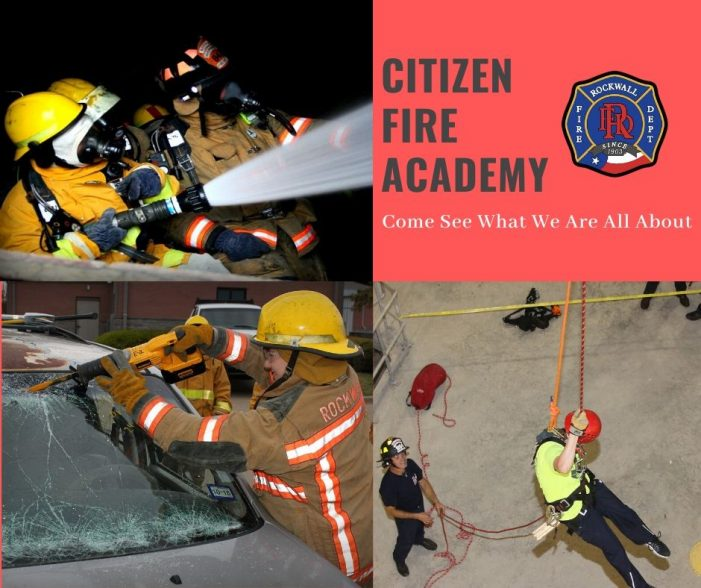 Rockwall Citizen's Fire Academy: free program offers inside look into firefighting
