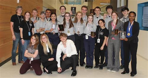 Rockwall ISD Law & Order Club competes at TPSA, 12 advance to State