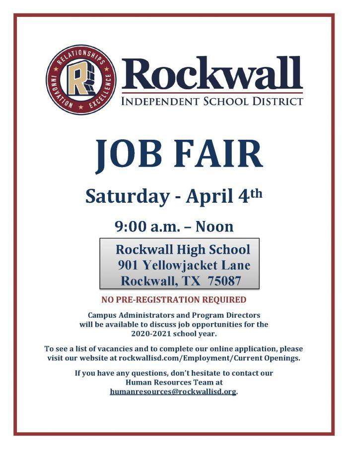 Rockwall ISD to host Job Fair April 4