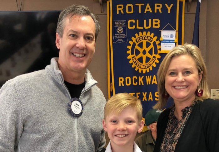Springer Elementary sixth grader earns Rockwall Rotary Student of Honor