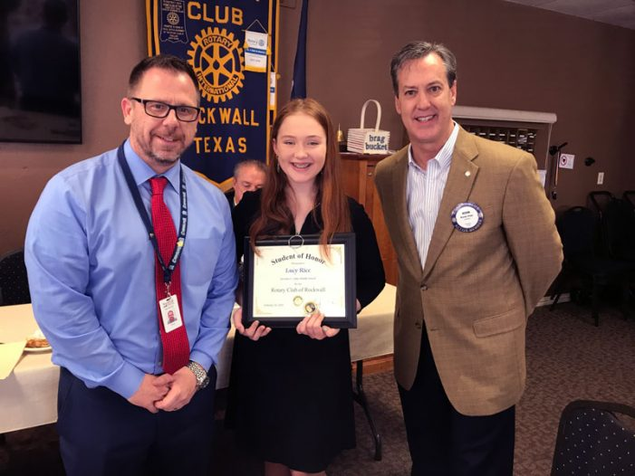 Rockwall Rotary names Student of Honor from Utley Middle School