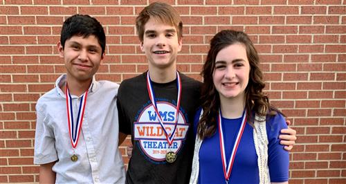 Williams Middle School Theatre earns awards for UIL One-Act-Play