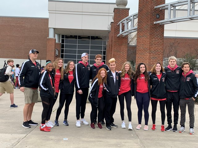 Heath Swim Dive Team finishes strong at UIL State Championship