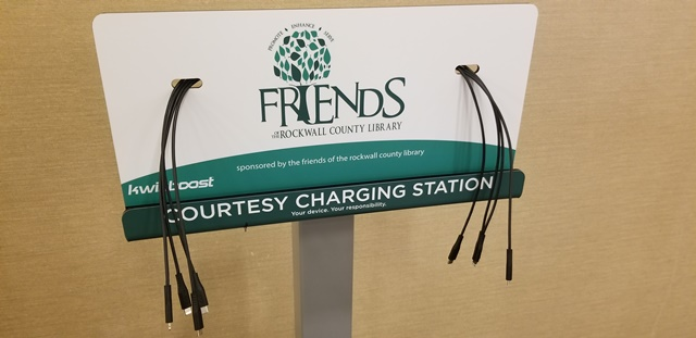 Charge your phone while recharging with a book at Rockwall County Library