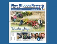 "Blue Ribbon News April ""Go Blue"" 2020 print edition hits mailboxes throughout Rockwall, Heath"